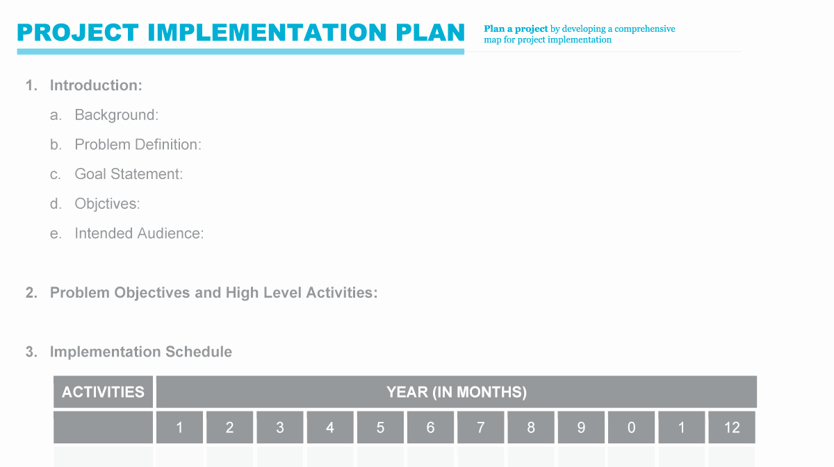 Project Implementation Plan Template Best Of Implementation Plan
