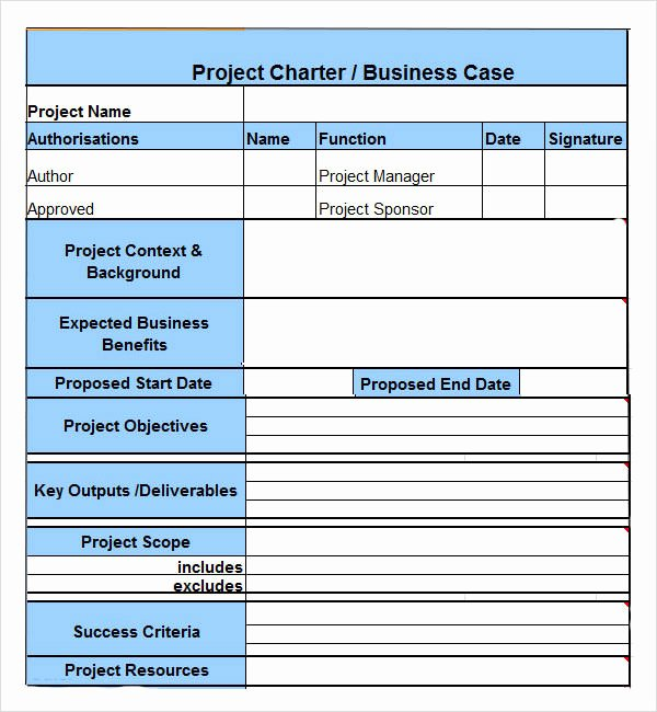 Project Management Charter Template Beautiful Project Charter 7 Free Pdf Doc Download