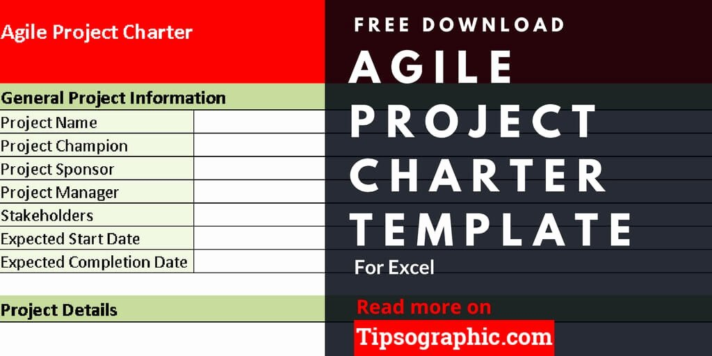Project Management Charter Template Elegant Agile Project Charter Template for Excel Free Download