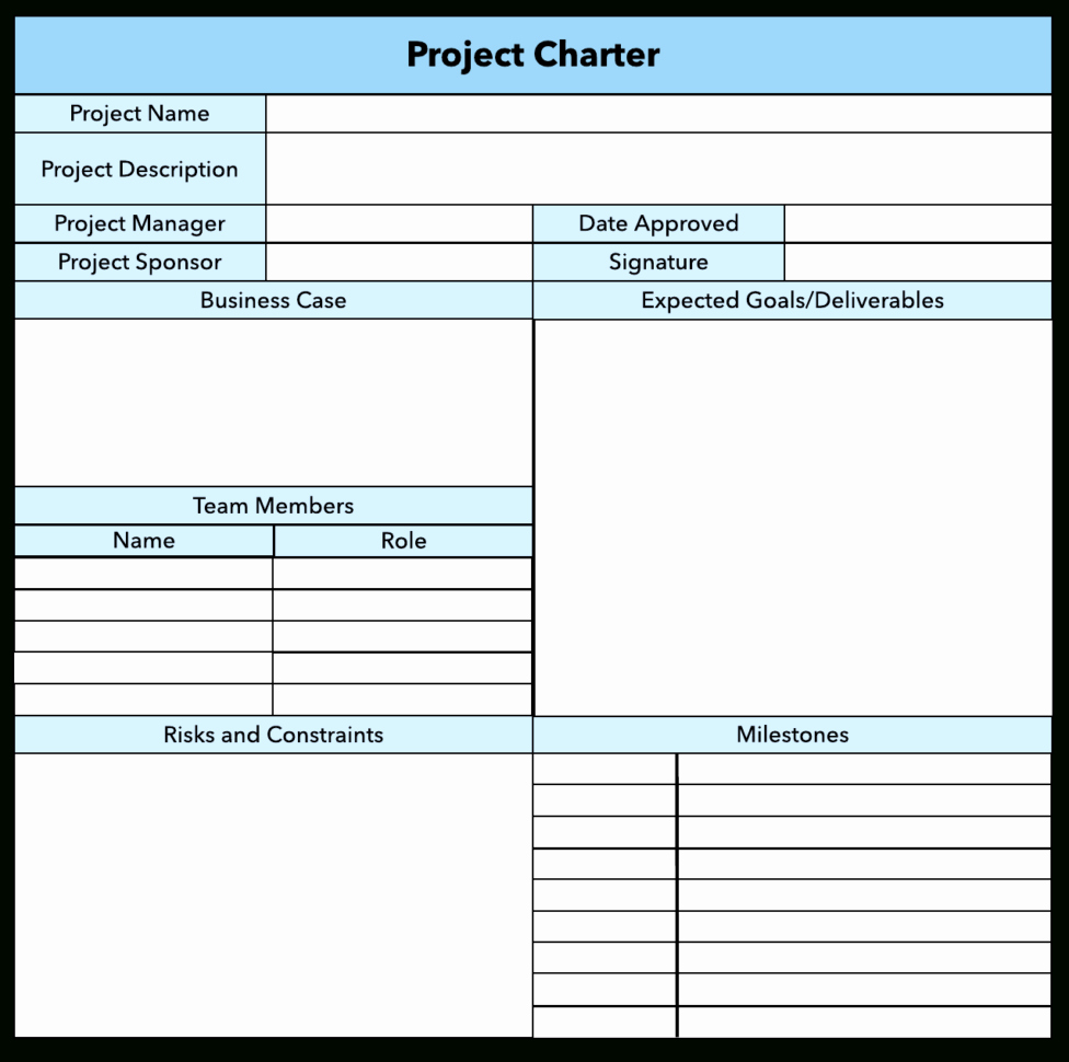 Project Management Charter Template Elegant Project Management Fice Charter Example Project