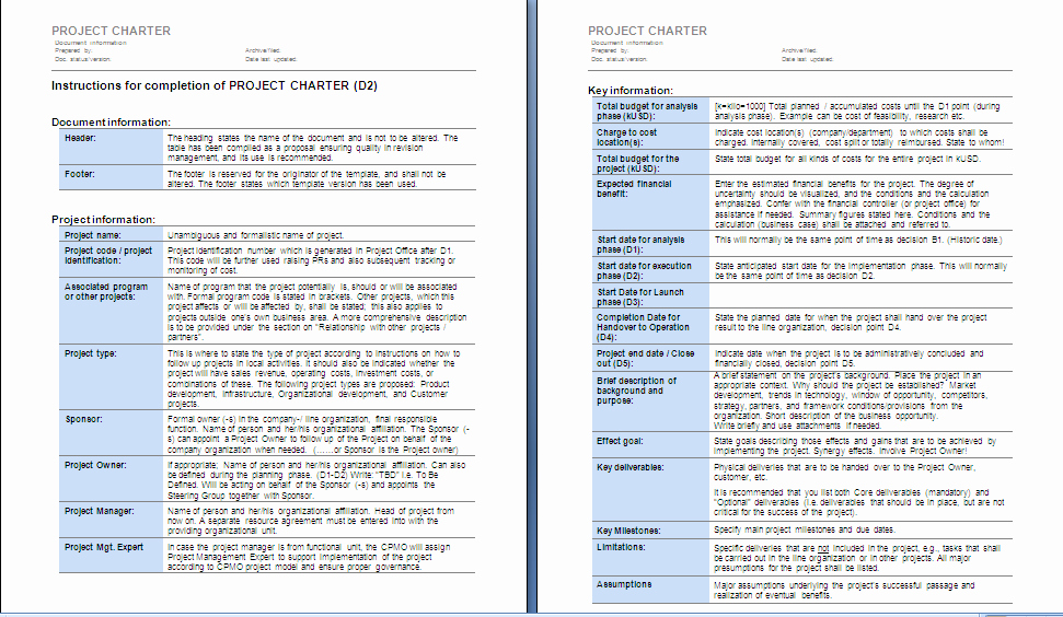 Project Management Charter Template Fresh Project Management Project Charter Sample 1
