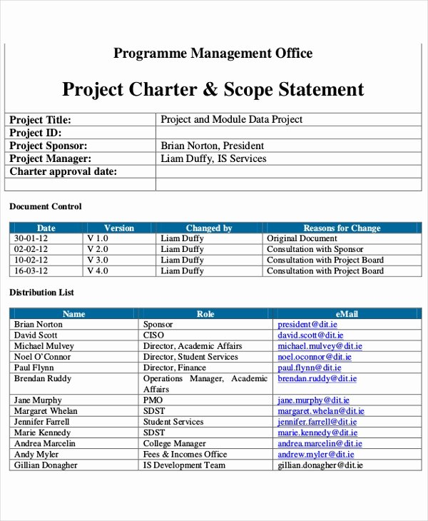 Project Management Charter Template Luxury 8 Project Charter Templates Free Pdf Word Documents