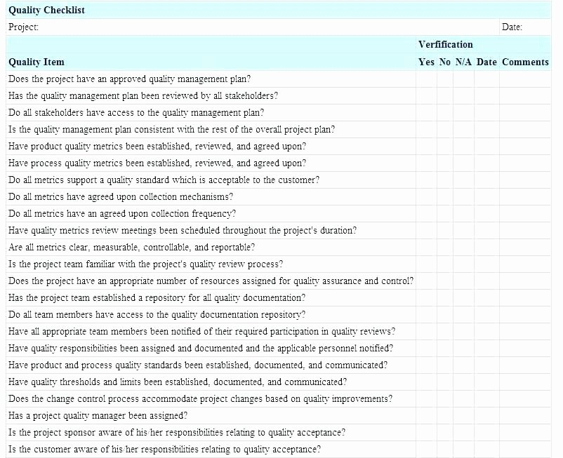 Project Management Checklist Template Best Of Project Management Checklist Template Excel Free