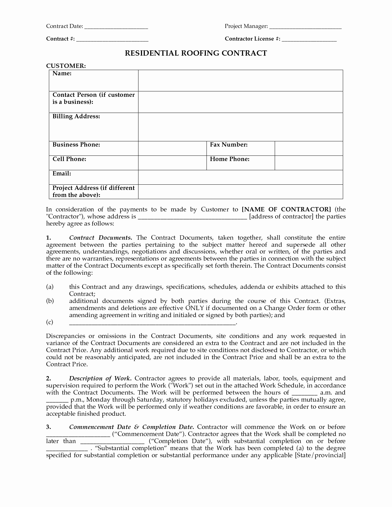 Project Management Contract Template Awesome Project Contract Template Portablegasgrillweber