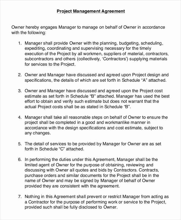 Project Management Contract Template Best Of 8 Project Contract Samples & Templates