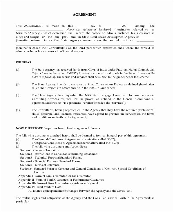 Project Management Contract Template Luxury Sample Consulting Agreement 13 Examples In Word Pdf