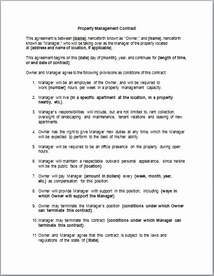 Project Management Contract Template New Contract Project Manager