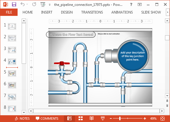 Project Management Powerpoint Template Unique Animated Pipeline Connection Powerpoint Template