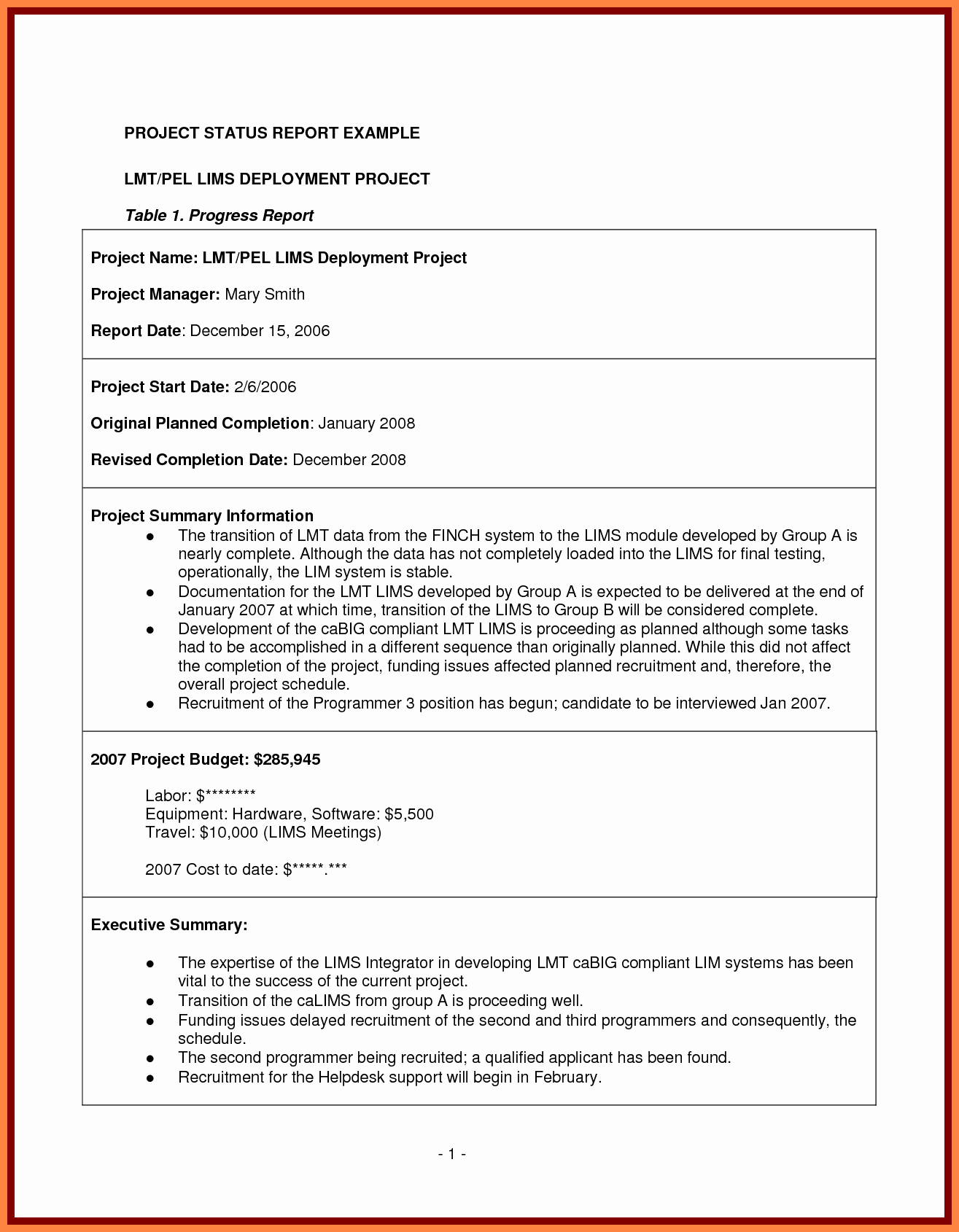 Project Management Report Template Best Of 7 Project Management Final Report Template