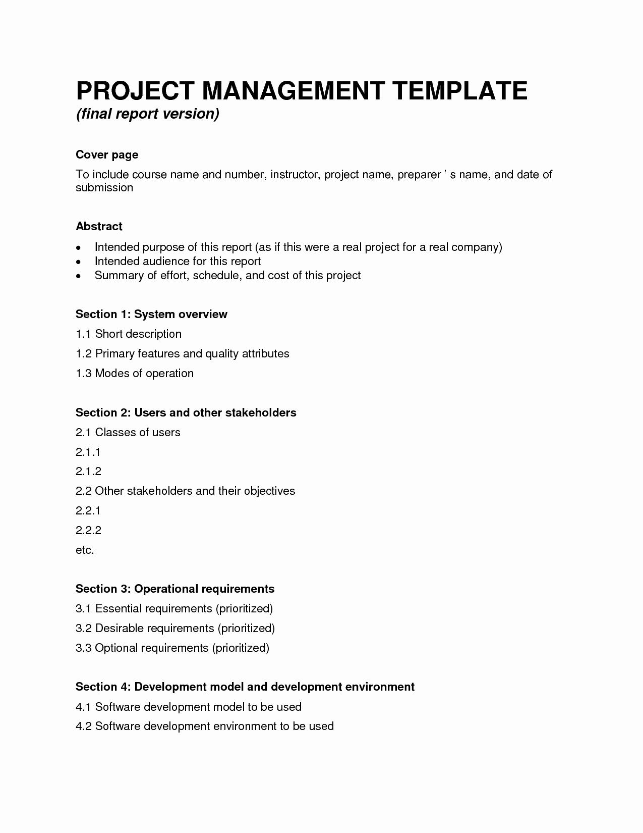 Project Management Report Template Unique Science Project Report Template to Pin On