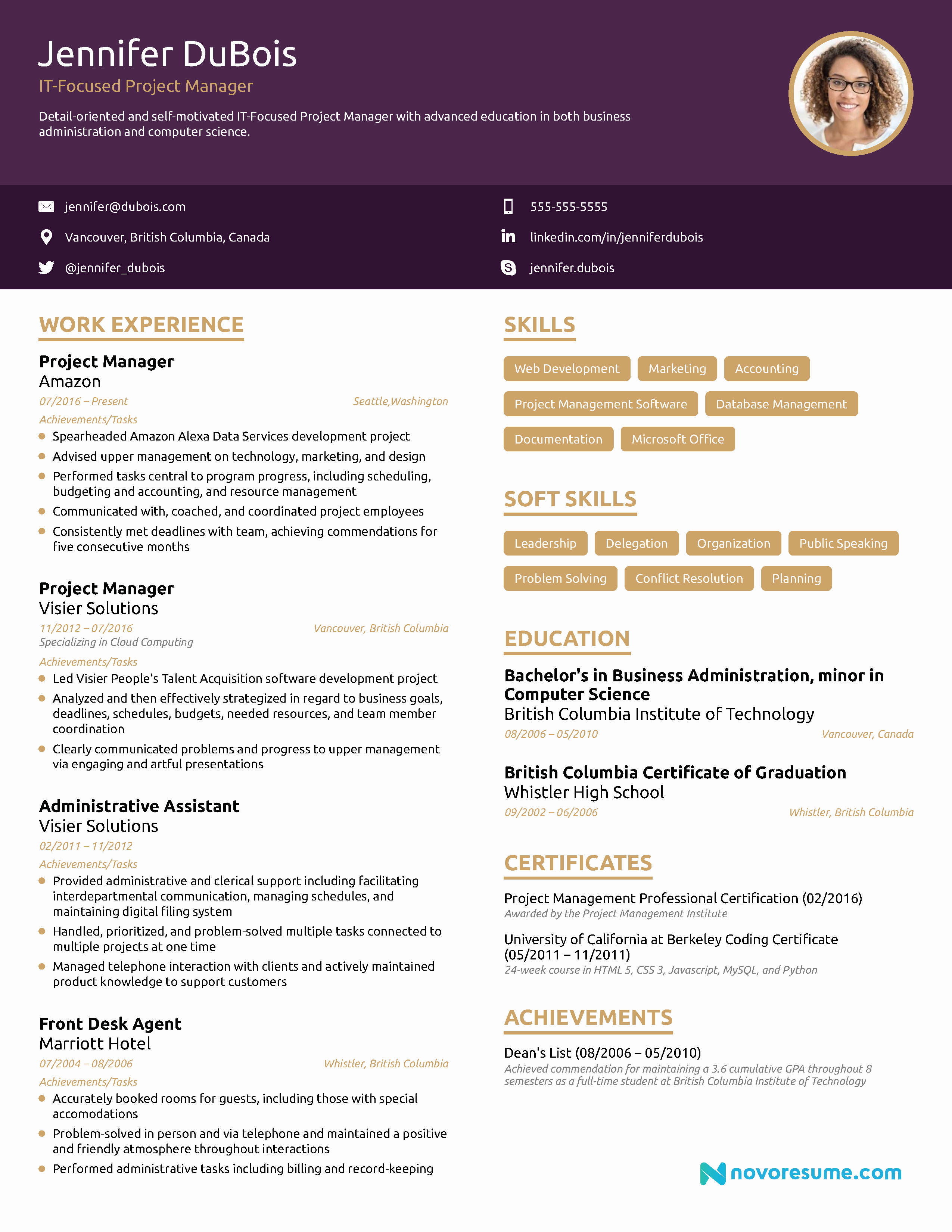 Project Manager Resume Template Beautiful Project Manager Resume [2019] Example & Full Guide