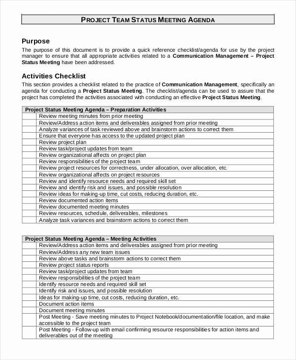 Project Meeting Agenda Template New 41 Meeting Agenda Templates