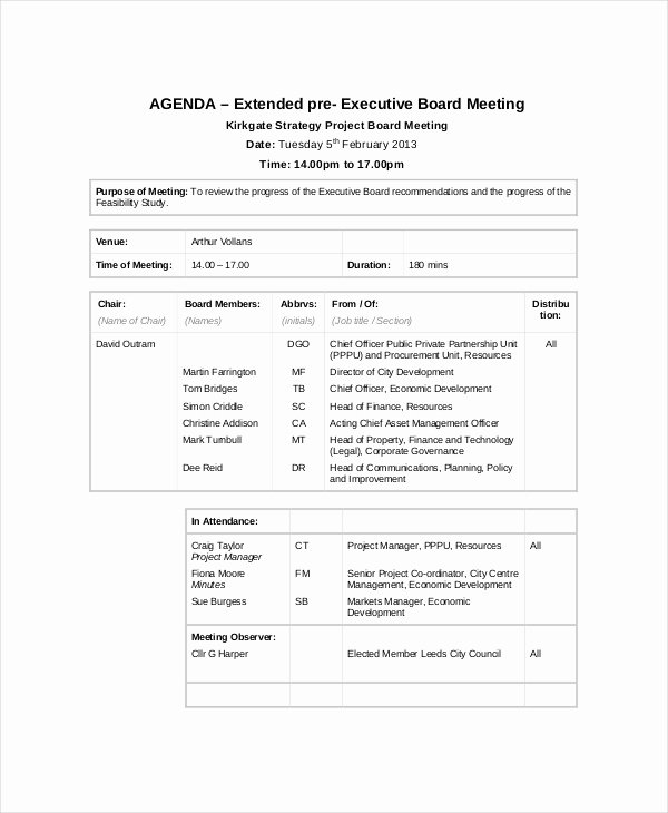 Project Meeting Minutes Template Beautiful 9 Project Meeting Agenda Template Word Pdf