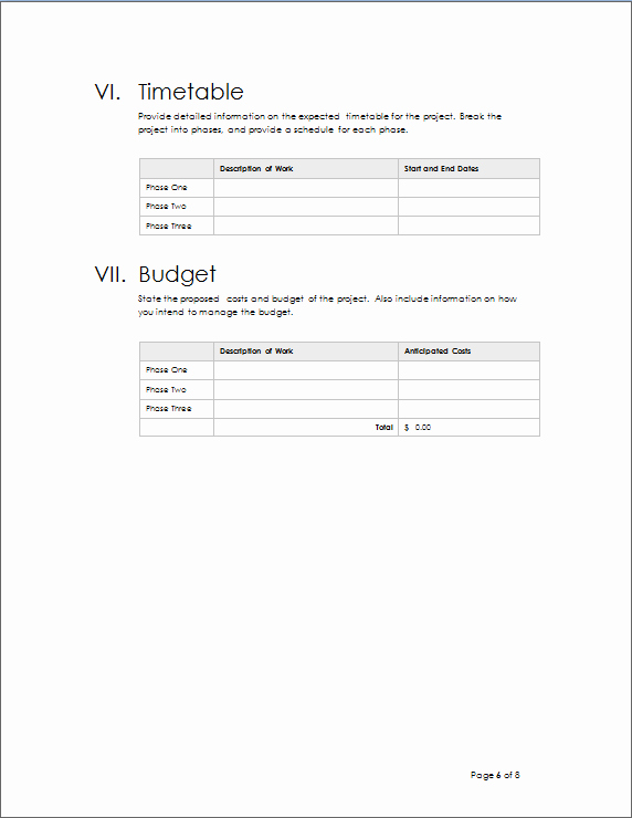 Project Outline Template Word Beautiful Project Outline Template
