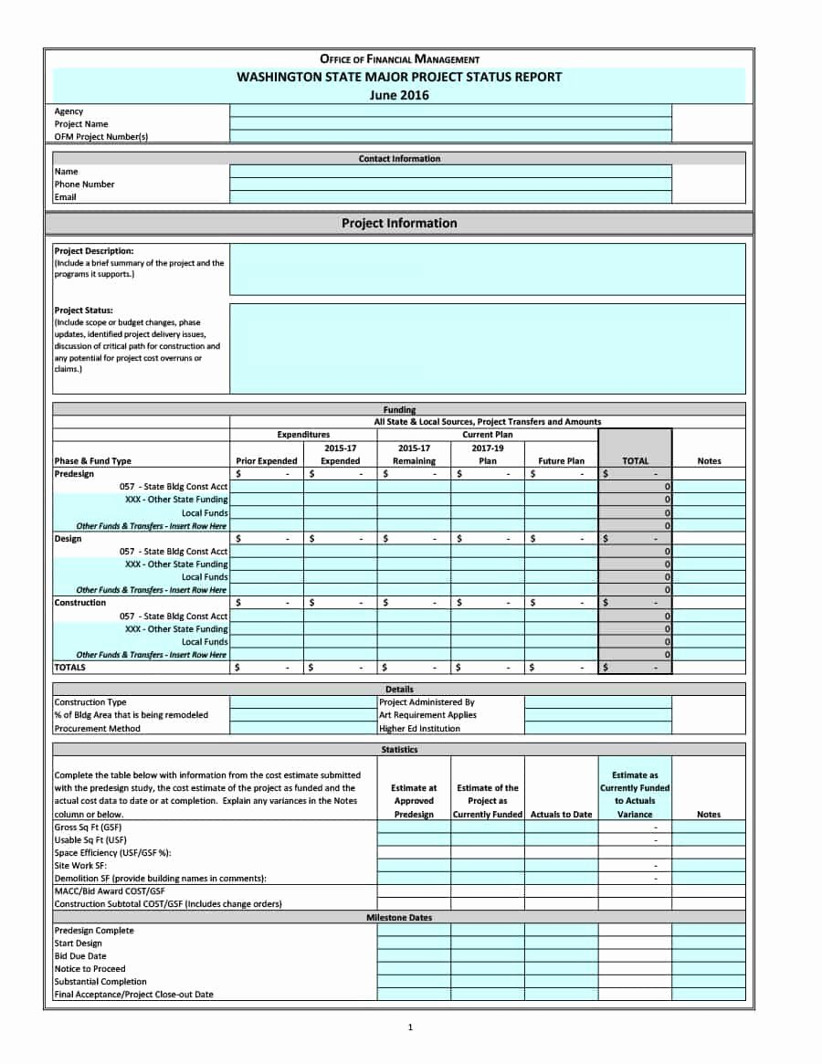 Project Progress Report Template Best Of 40 Project Status Report Templates [word Excel Ppt]