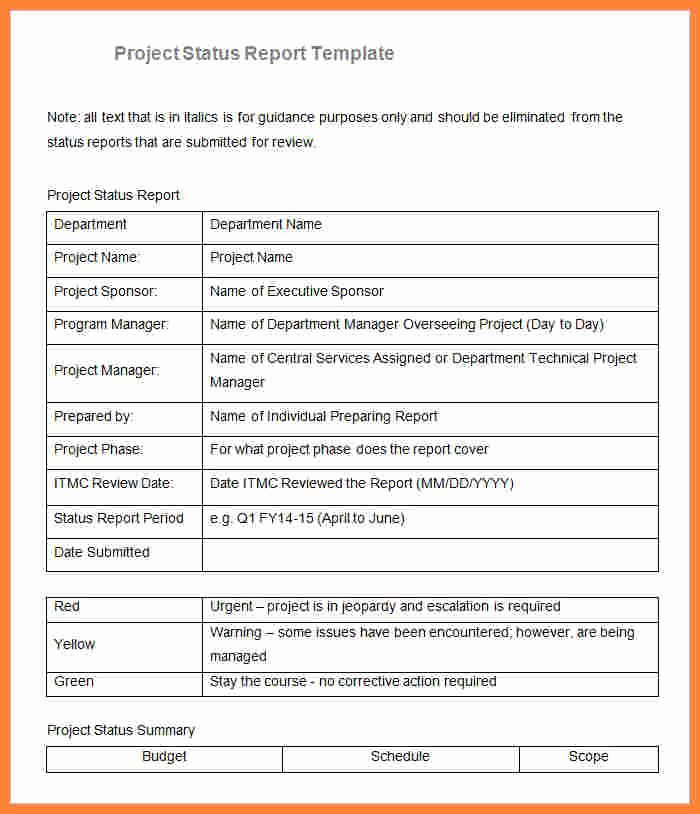 Project Progress Report Template Fresh 8 Sample Project Progress Report Template