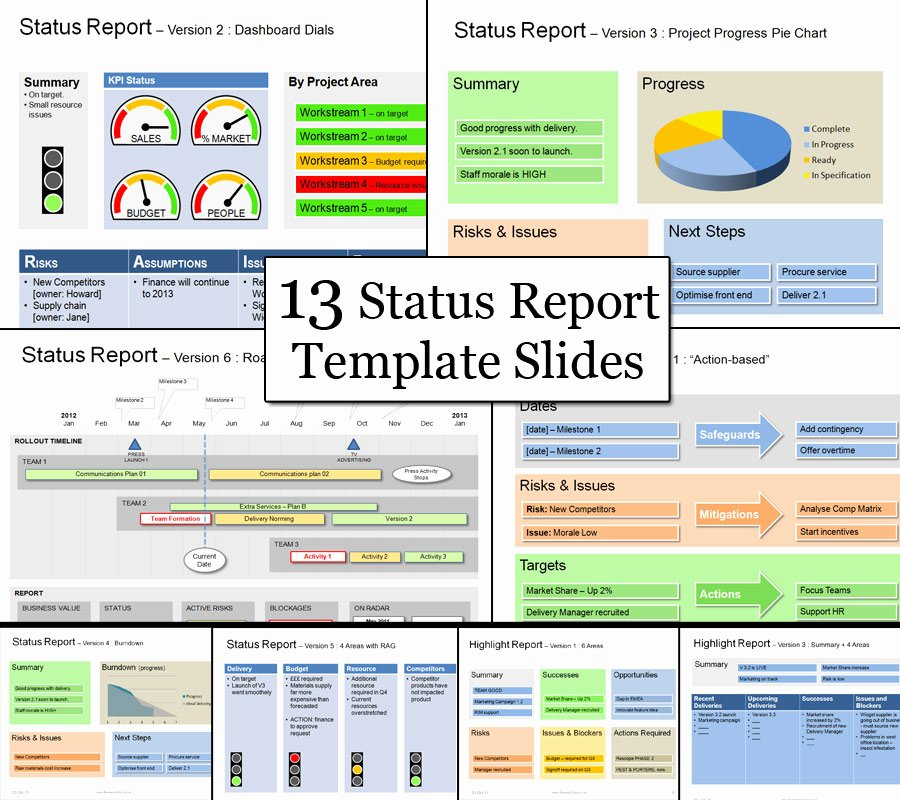 Project Progress Report Template Fresh Status Template Be Clear & Successful with Status Reports