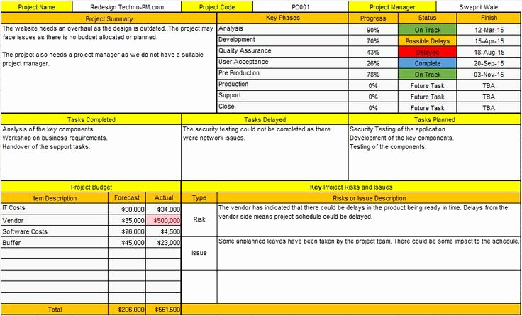 Project Progress Report Template Lovely Project Handover Template Excel