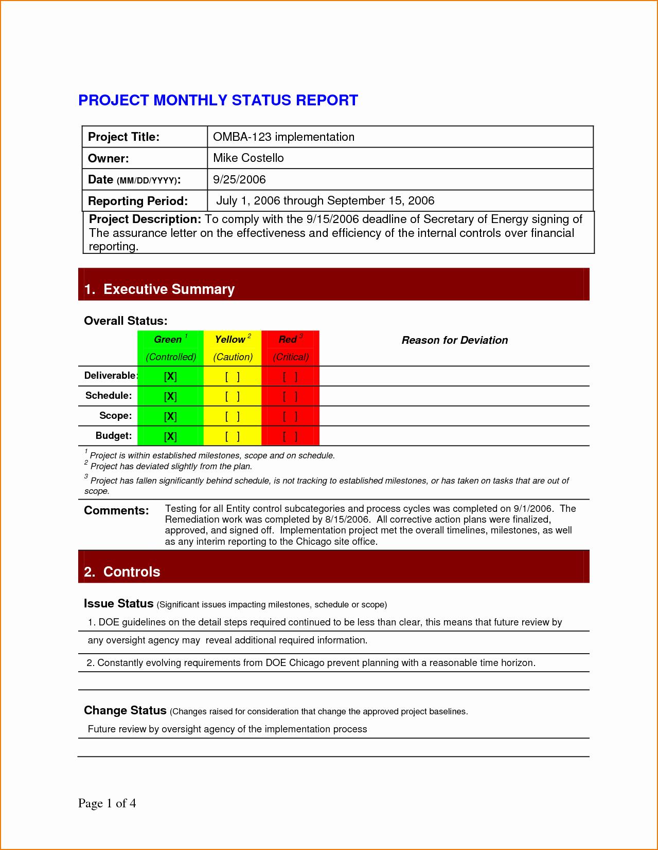 Project Progress Report Template Luxury 5 Project Status Report Template