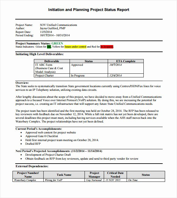 Project Progress Report Template New 14 Sample Project Status Reports – Pdf Word Pages