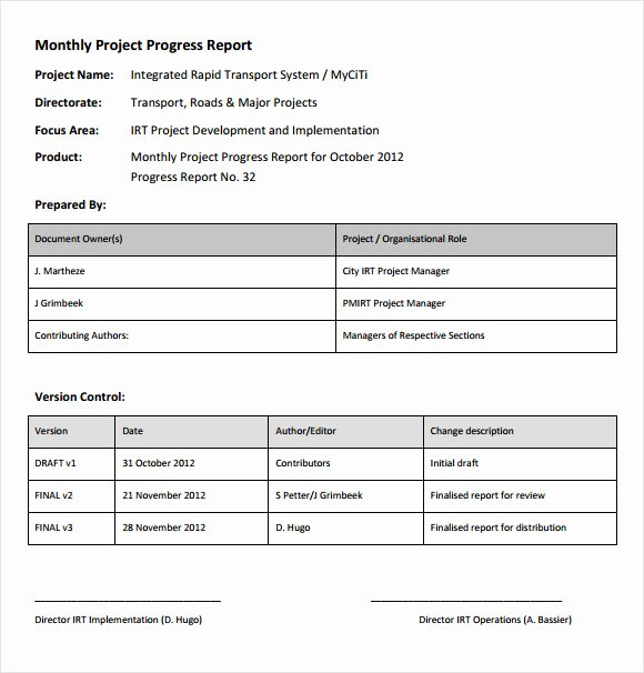 Project Progress Report Template Unique 14 Sample Project Status Reports – Pdf Word Pages
