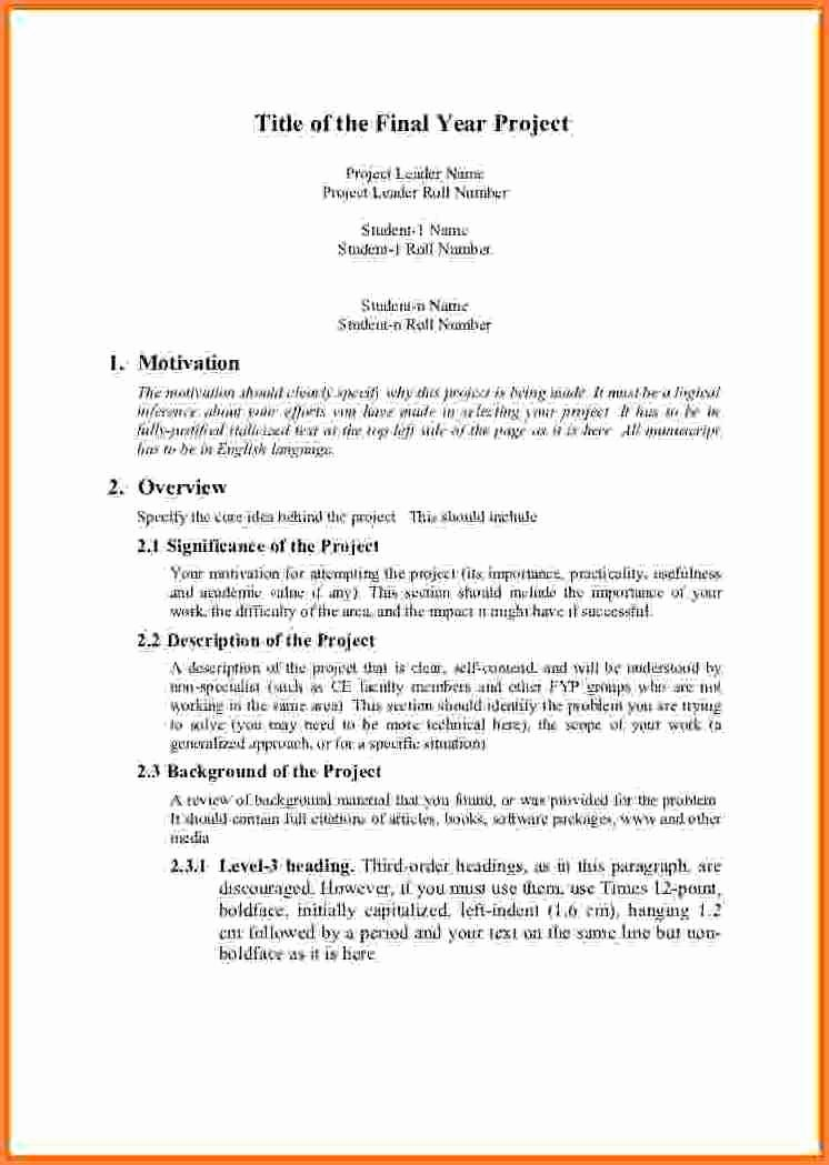 Project Proposal Template Doc Awesome 7 Engineering Project Proposal Template