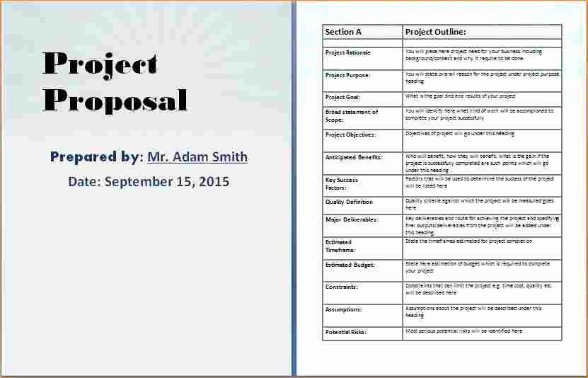 Project Proposal Template Doc Awesome Project Proposal Templates Business Proposal Templated