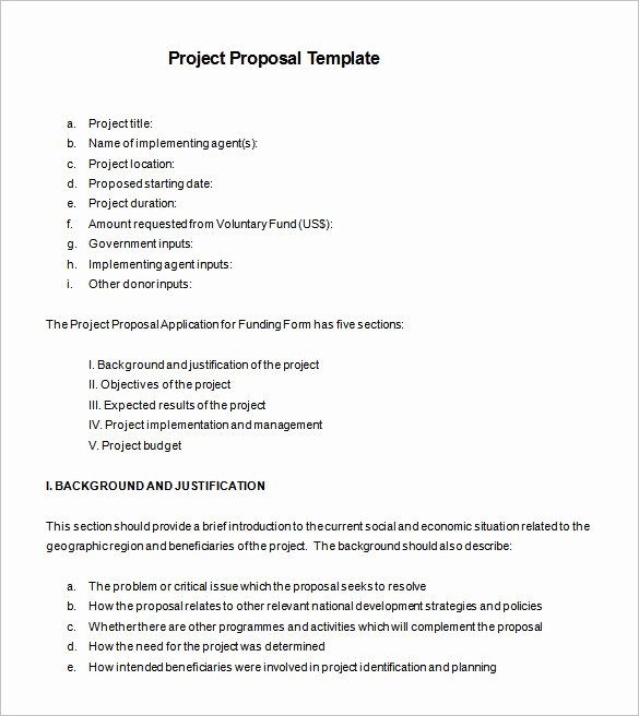 Project Proposal Template Doc Elegant Proposal Templates – 140 Free Word Pdf format Download
