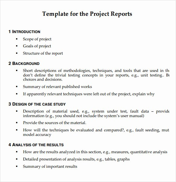 Project Report Template Word Best Of 21 Project Report Templates Download Docs Word Pages