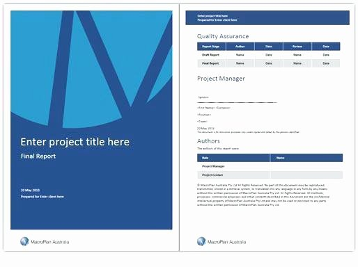 Project Report Template Word New Project Front Page Design Free Download Inside Regarding