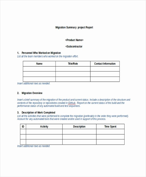 Project Report Template Word Unique 8 Project Summary Templates Free Word Pdf Document