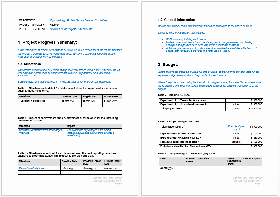 Project Report Template Word Unique Project Progress Report Template – Microsoft Word Templates