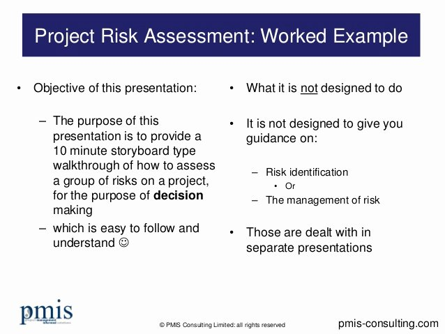 Project Risk assessment Template Beautiful Project Risk assessment Worked Example