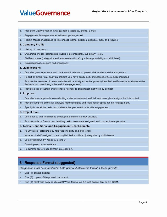 Project Risk assessment Template Elegant Pm Pm001 04 Risk assessment sow Template