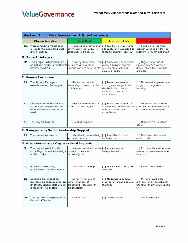 Project Risk assessment Template Lovely Project Risk assessment Spreadsheet Samples Project Risk