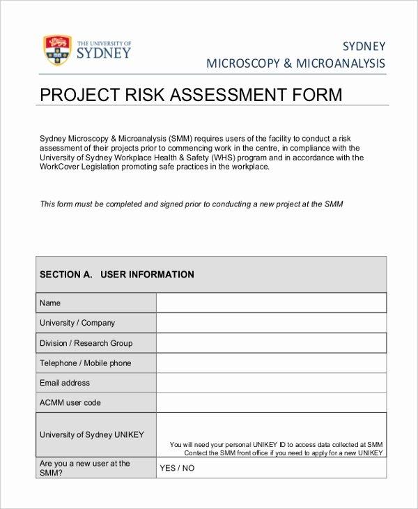 Project Risk assessment Template Lovely Project Risk assessment Template to Pin On