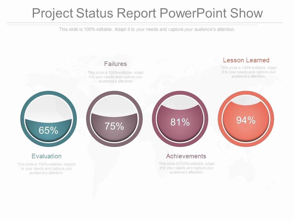 Project Status Powerpoint Template Awesome Project Status Report Powerpoint Show