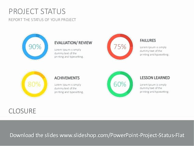 Project Status Powerpoint Template Lovely Project Status Report Template Elegant Flat Ppt Powerpoint