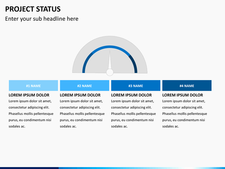 Project Status Powerpoint Template Unique Project Status Powerpoint Template