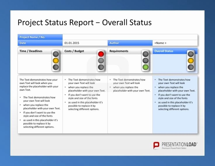 Project Status Report Template New Create Weekly Project Status Report Template Excel