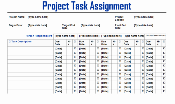 Project Task List Template Beautiful Project Team Task assignment List Template Example Violeet