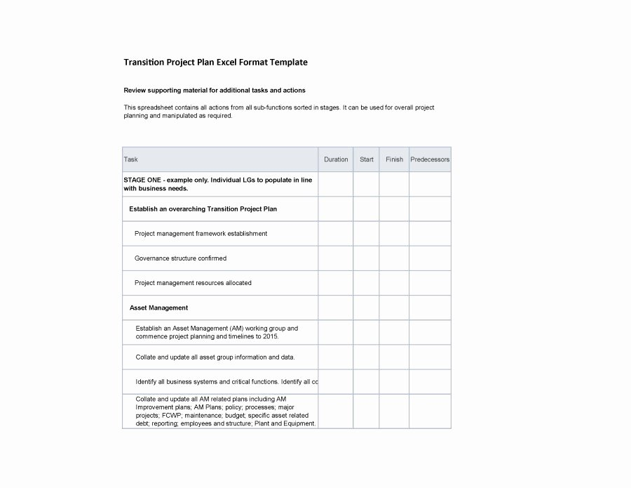 Project Transition Plan Template Inspirational 40 Transition Plan Templates Career Individual
