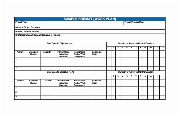 Project Work Plan Template Elegant Financial Plan Templates 11 Word Excel Pdf Documents