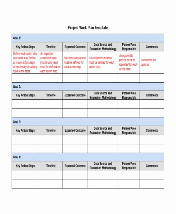 Project Work Plan Template Elegant Project Plan Template 10 Free Word Pdf Document