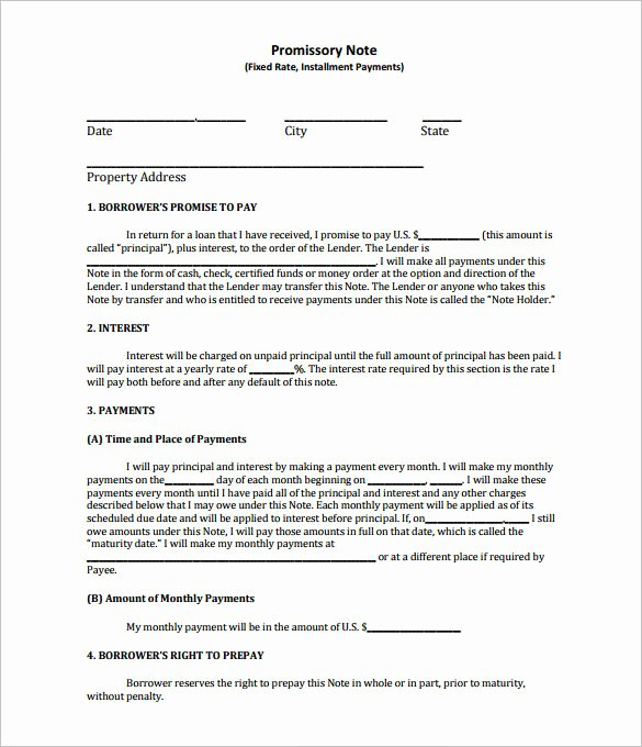 Promissory Note Template California Fresh Promissory Note Template – 27 Free Word Pdf format