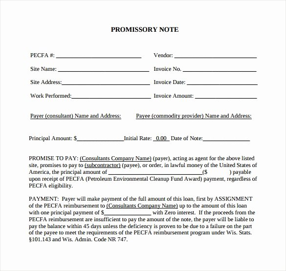 Promissory Note Template California Inspirational Promissory Note 26 Download Free Documents In Pdf Word