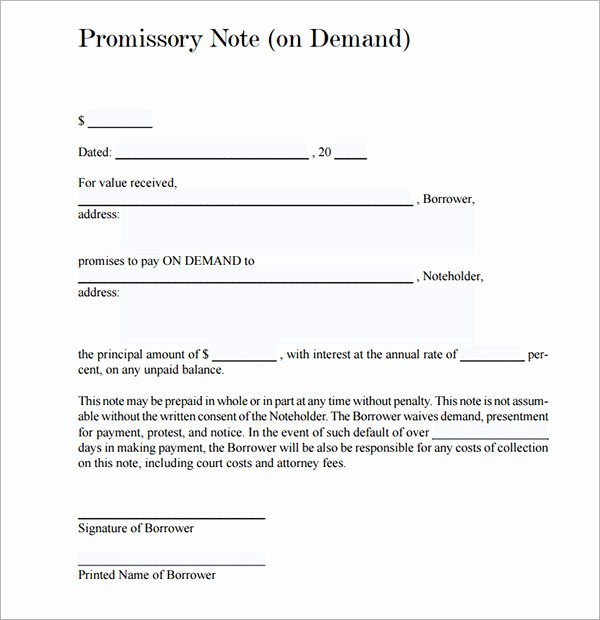 Promissory Note Template California Luxury Promissory Note 26 Download Free Documents In Pdf Word