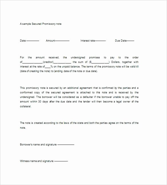 Promissory Note Template California New Sample Negotiable Promissory Note Essential Elements for A