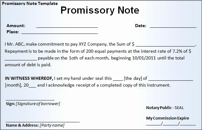 Promissory Note Template California Unique Promissory Note Template Free Word Templatesfree Word