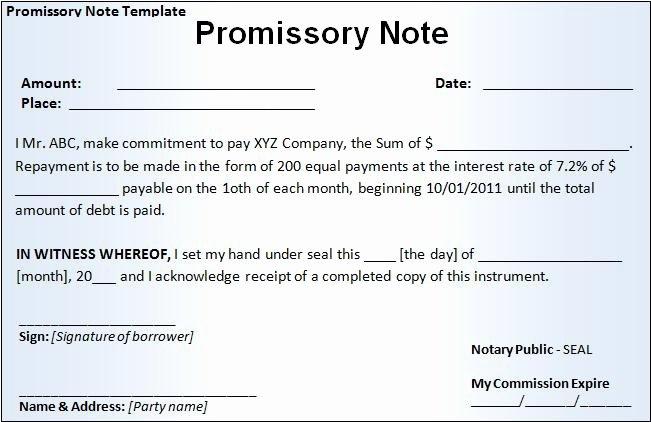 Promissory Note Template California Unique Promissory Note Template Free Word Templatesfree Word